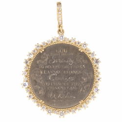 Closeup photo of Love Token Engraved With The Serenity Prayer