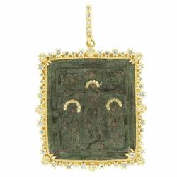 Closeup photo of Ancient Crucifixion Icon
