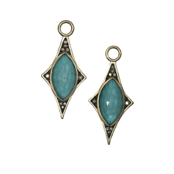 Closeup photo of North Star Turquoise & Diamond Earring Charms