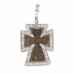 Closeup photo of Small Antique Geometric Cross
