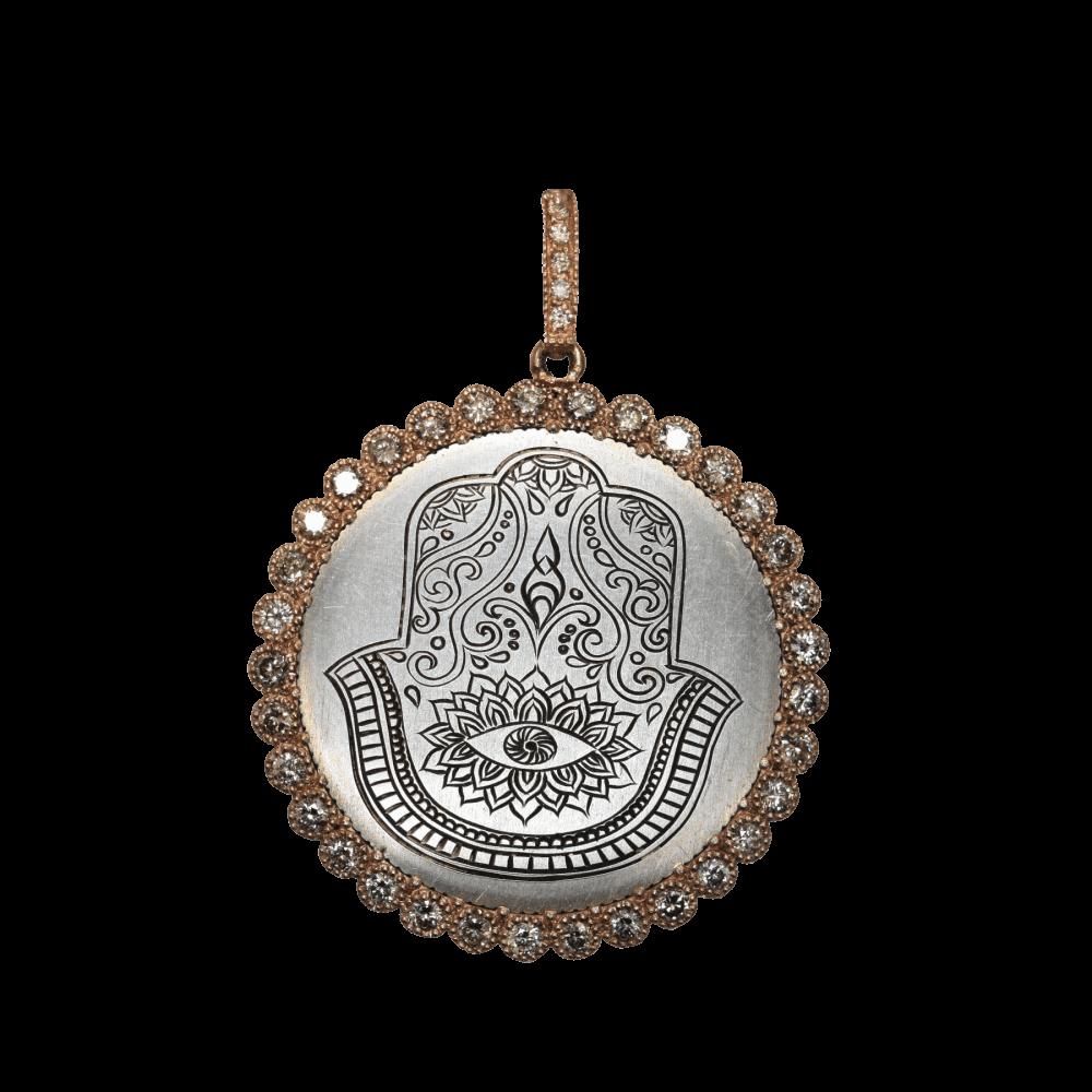 Rose Gold Engraved Hamsa