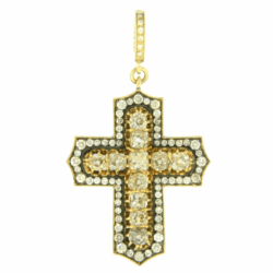 Closeup photo of Antique Diamond Cross