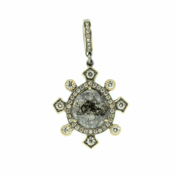 Closeup photo of Diamond Slice Pendant
