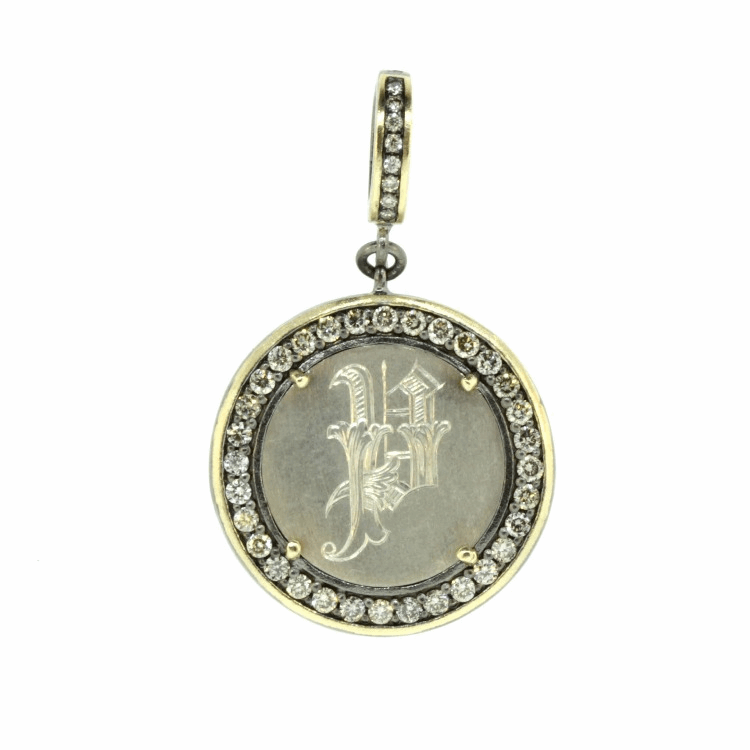 """Love Token Engraved with """"P"""""""