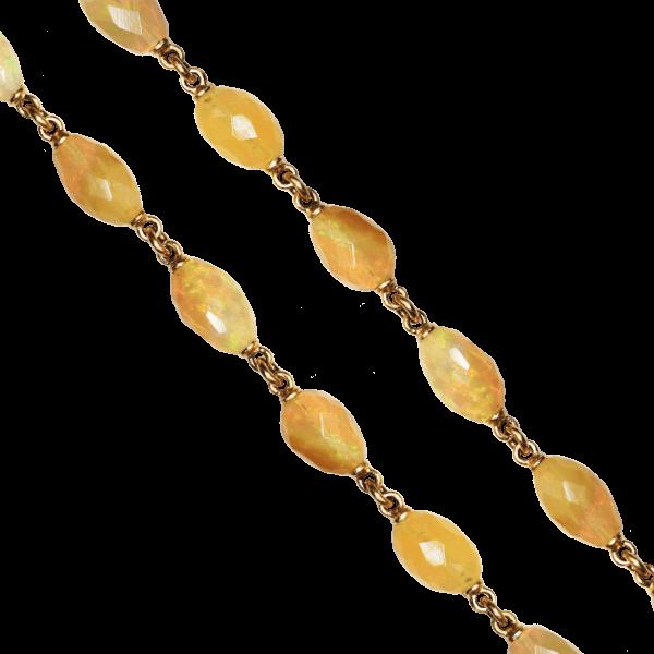 "Closeup photo of 30"" Opal Nugget Chain"