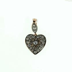 Closeup photo of Rose Gold Bud cut diamond Heart