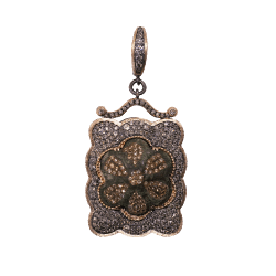 Closeup photo of Medieval 16c. Artifact Rose Gold Pendant
