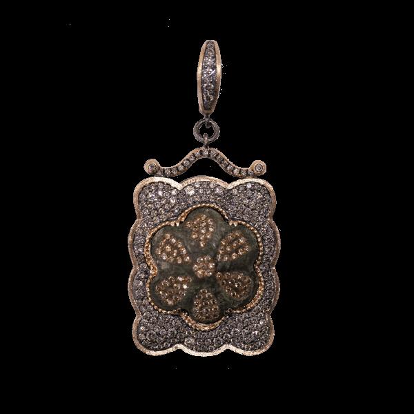Closeup photo of Medieval 16c. Artifact Rose Gold Pendant