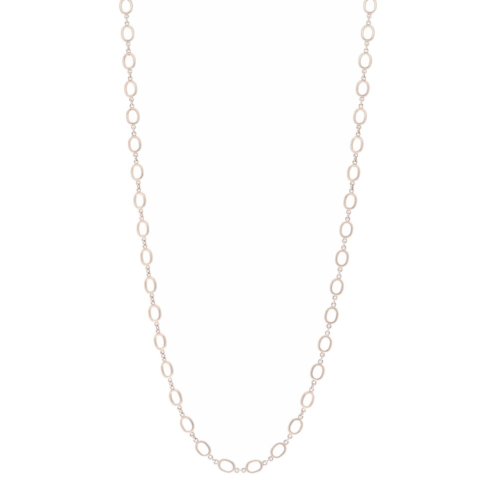 """26"""" Oval Link Gold Chain Necklace"""