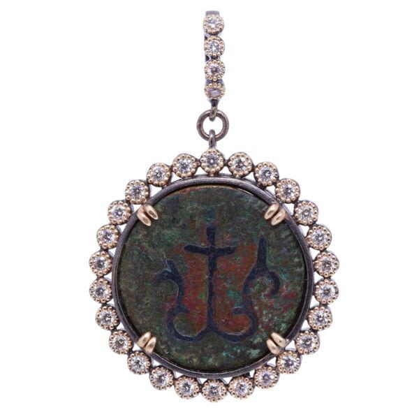 Closeup photo of Ancient Mariner's Cross Medal Pendant