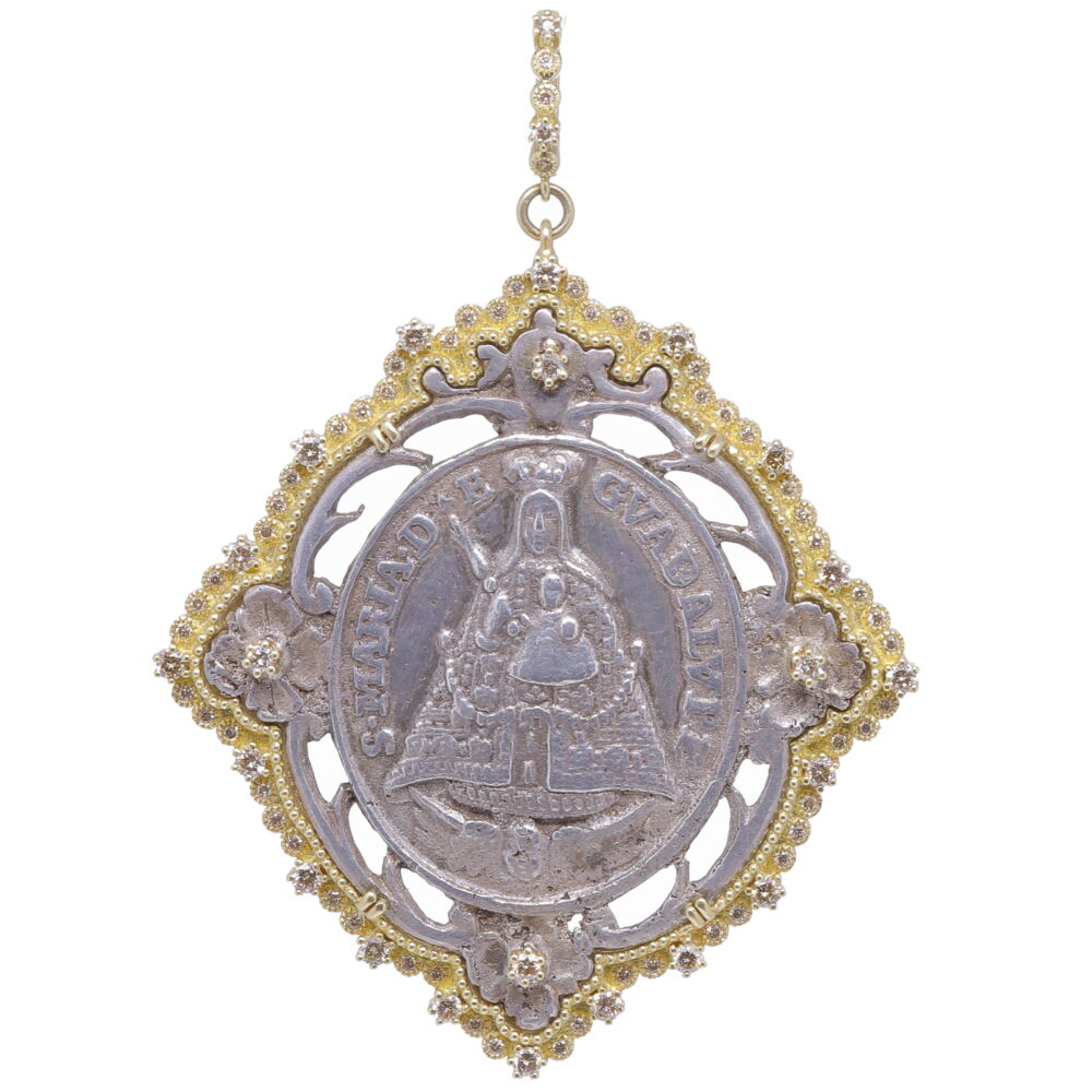 Spanish Our Lady of Guadalupe Mary Medal