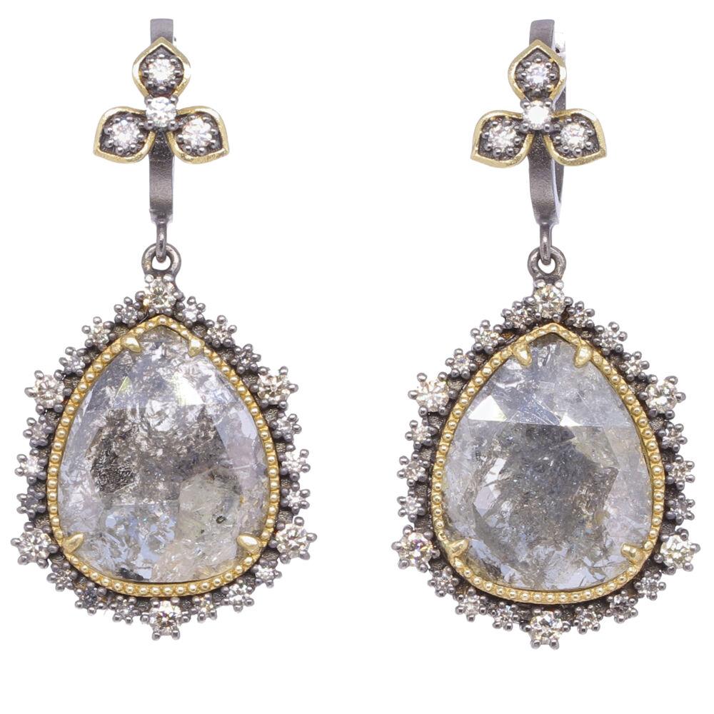 Black Diamond Slice Earrings