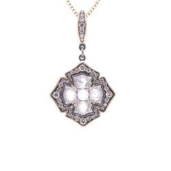 Closeup photo of Rose Cut Diamond Cross