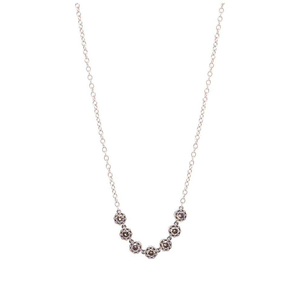Diamond Bar Necklace 18""