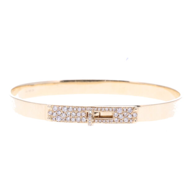 Closeup photo of Pave Diamond Hinged Display Bracelet