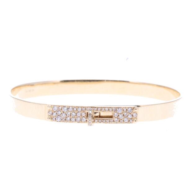 Closeup photo of Pave Diamond Hinged Display Bracelet