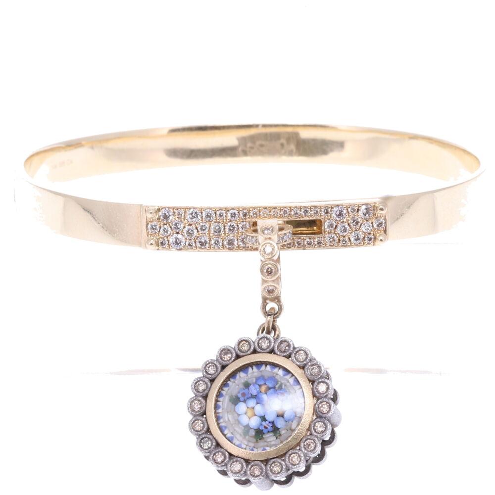 Image 2 for Pave Diamond Hinged Display Bracelet
