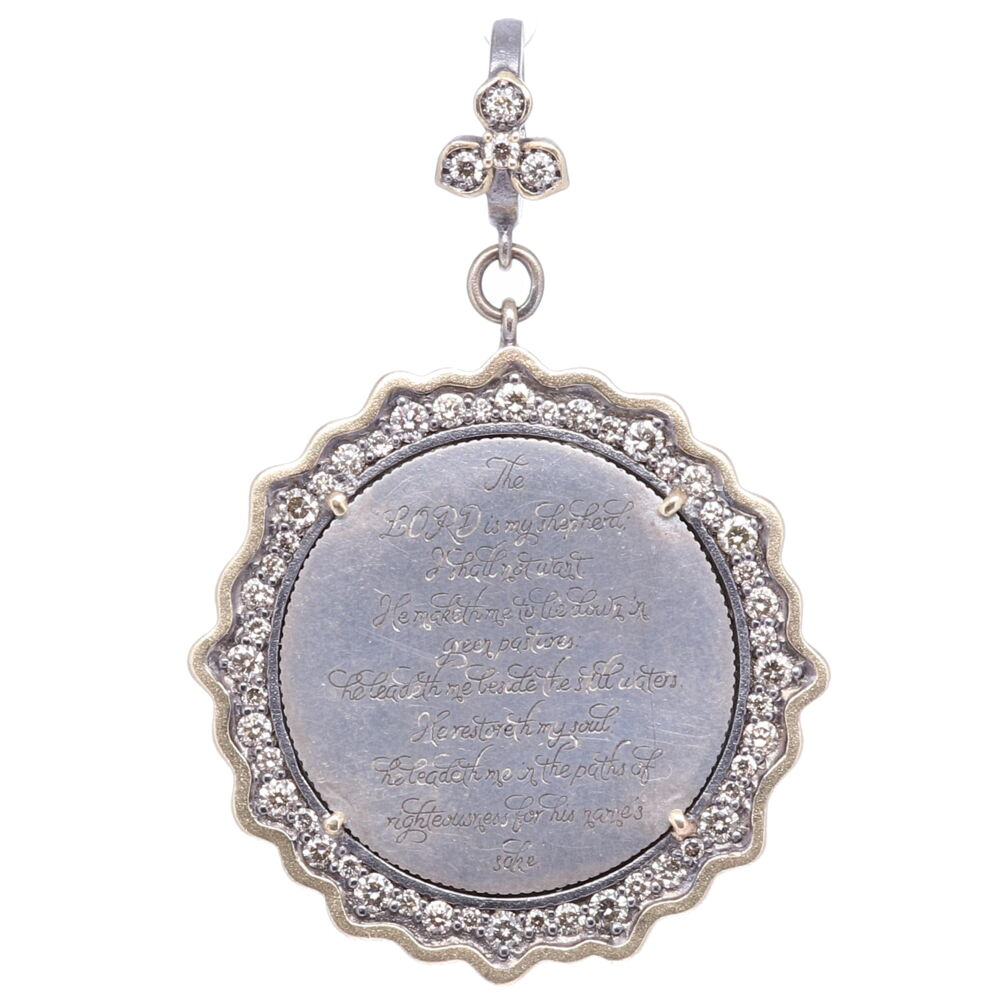 Love Token Engraved With The Lords Prayer