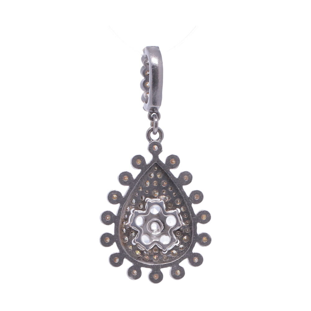 Image 2 for Rose Cut Diamond Flower with Pave Diamond