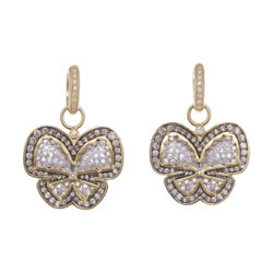 Closeup photo of Butterfly Diamond Earring Charms