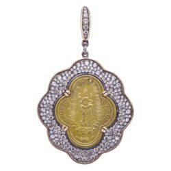 Closeup photo of Gaelic Madonna D' Oropa Pendant