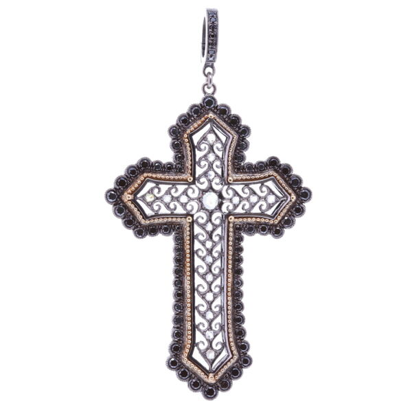 Closeup photo of Edwardian Cross Pendant