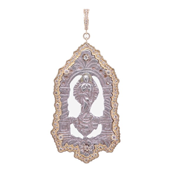 Closeup photo of Immaculate Conception Mary Pendant