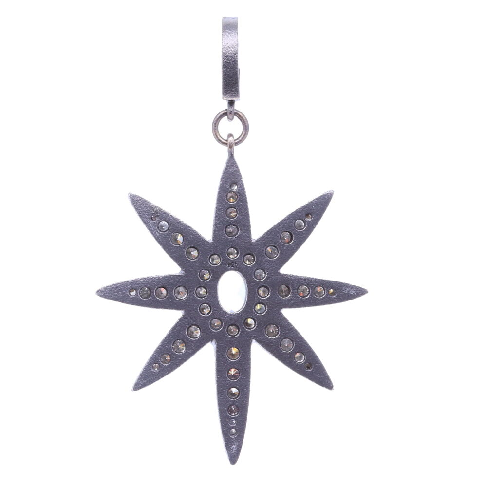 Image 2 for Large North Star Moonstone Pendant