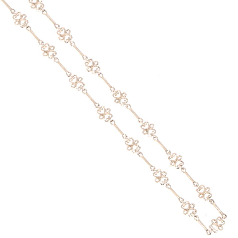Image 2 for Scroll Yellow Gold Link Chain 32""