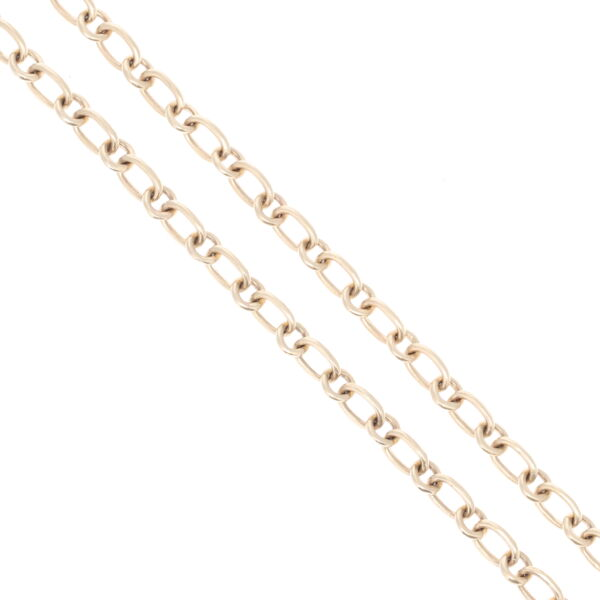 Closeup photo of Yellow Gold Oval + Circle Link Chain 32""