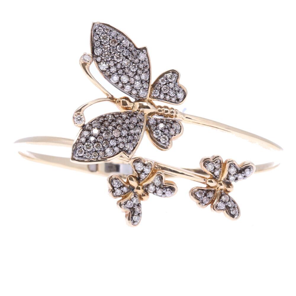 Butterfly Hinged Cuff Bracelet