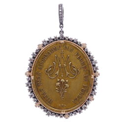Closeup photo of Spanish Ave Maria Pendant