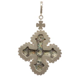 Closeup photo of Ancient Viking Cross Pendant