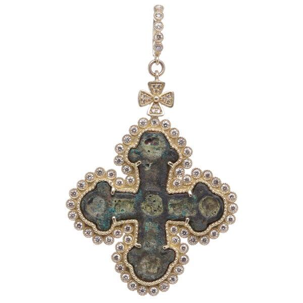 Closeup photo of Ancient Viking Cross Pendant