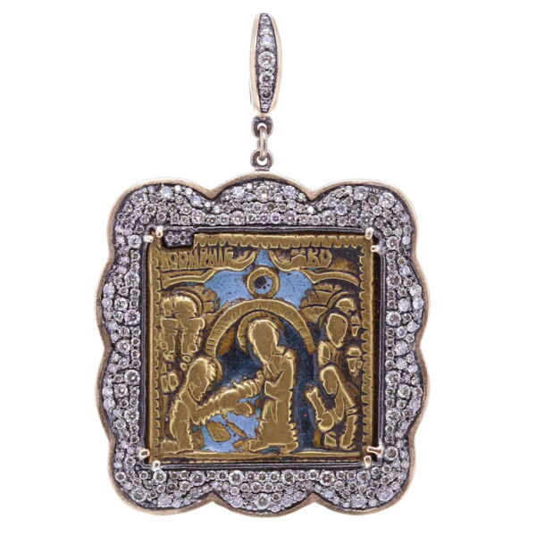 Closeup photo of 19th Century John The Baptist Russian Icon
