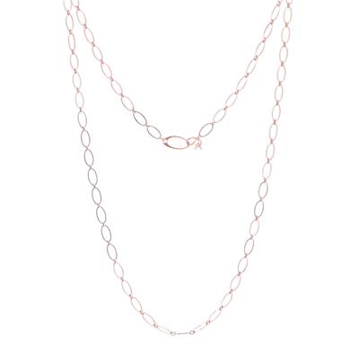 "Closeup photo of Rose Flat Link Chain 27"""