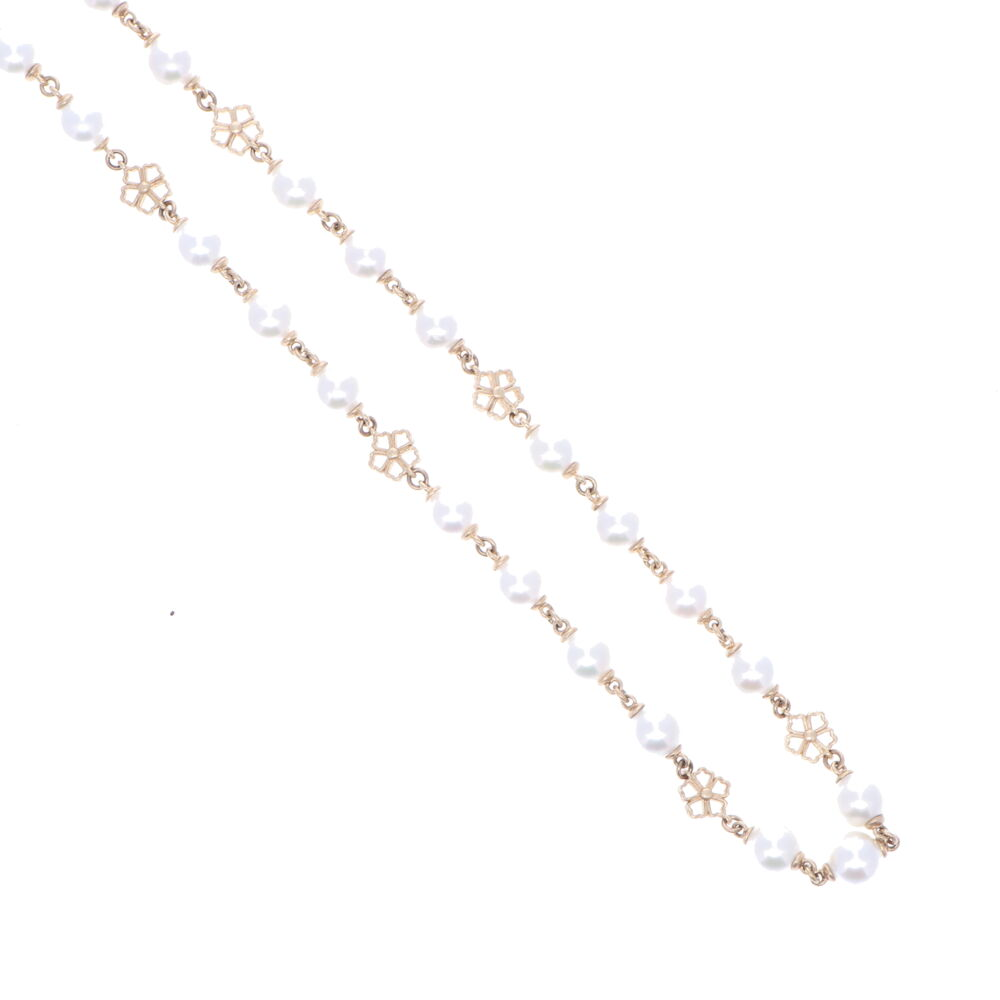Image 2 for Limited Edition Akoya Pearl Necklace with Flower Stations 32""