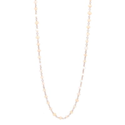 """Closeup photo of Opal Cabochon Gold Necklace 45"""""""