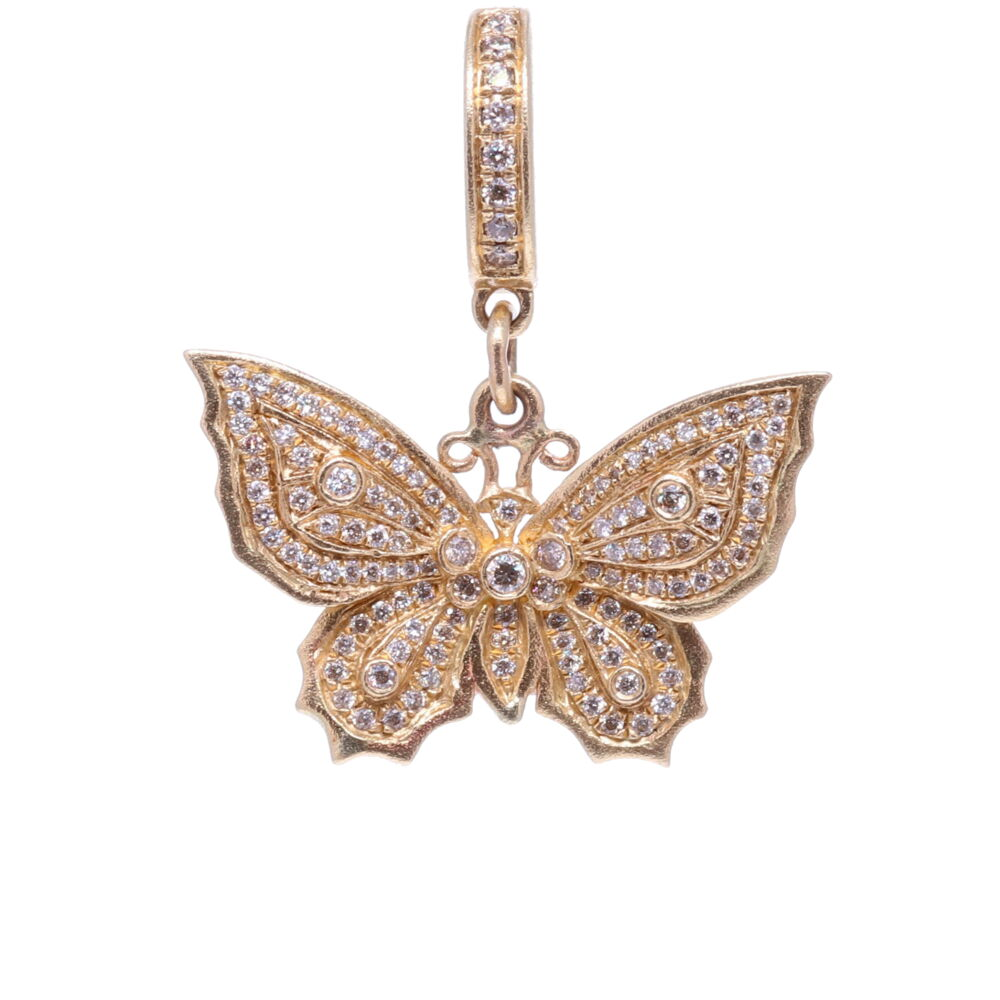 Butterfly Pendant Yellow Gold