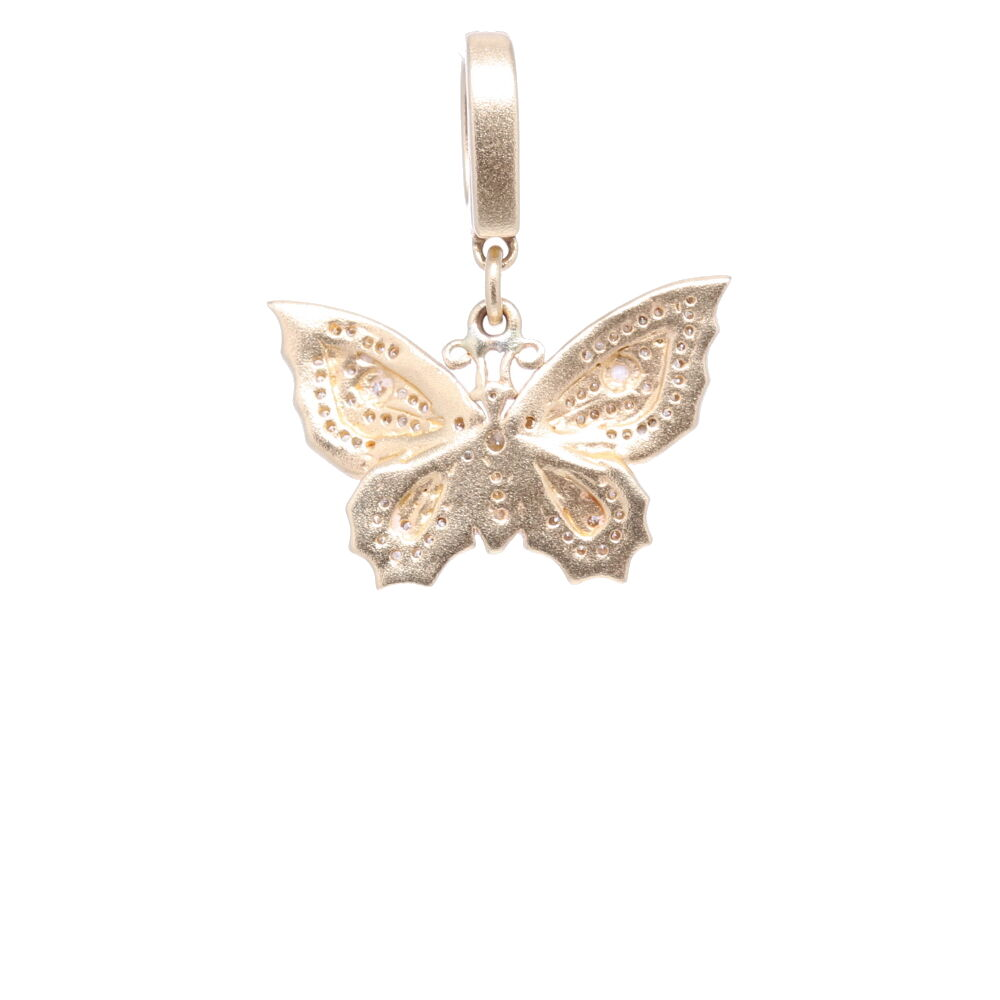 Image 2 for Butterfly Pendant Yellow Gold