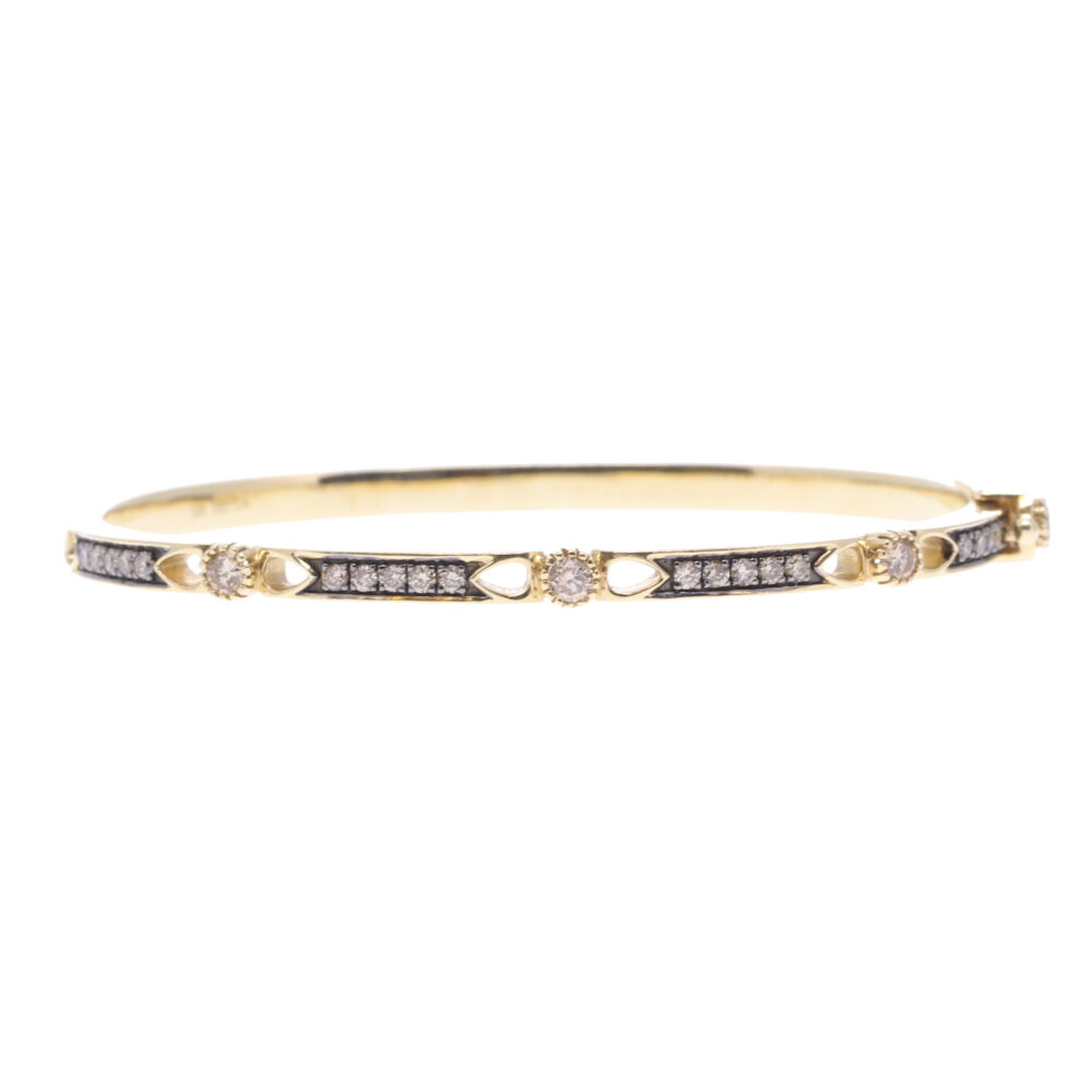 Lizzie Diamond Hinged Bracelet