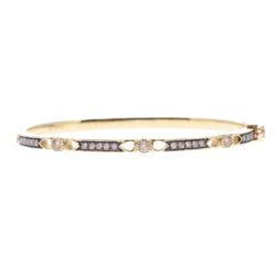 Closeup photo of Lizzie Diamond Hinged Bracelet
