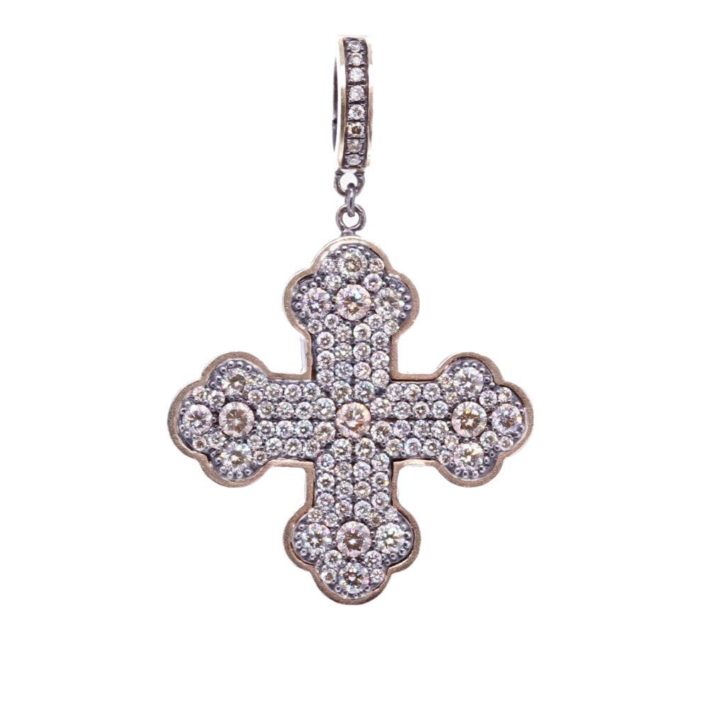 Classic Diamond Cross Pendant