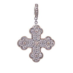 Closeup photo of Classic Diamond Cross Pendant