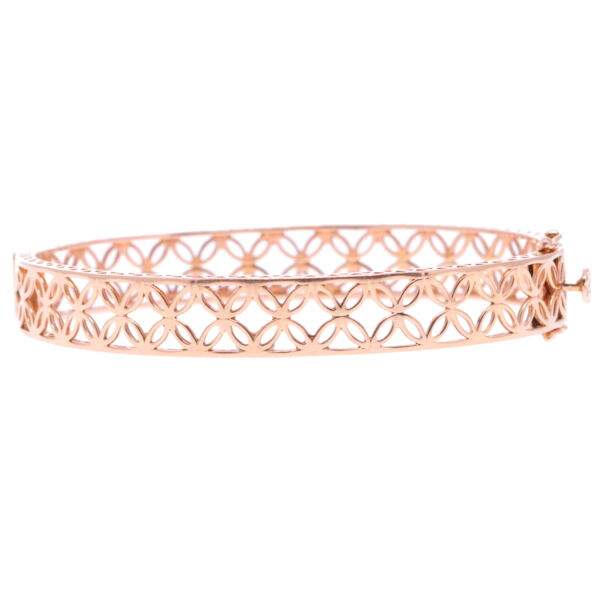 Closeup photo of Lace Rose Gold Hinged Bracelet