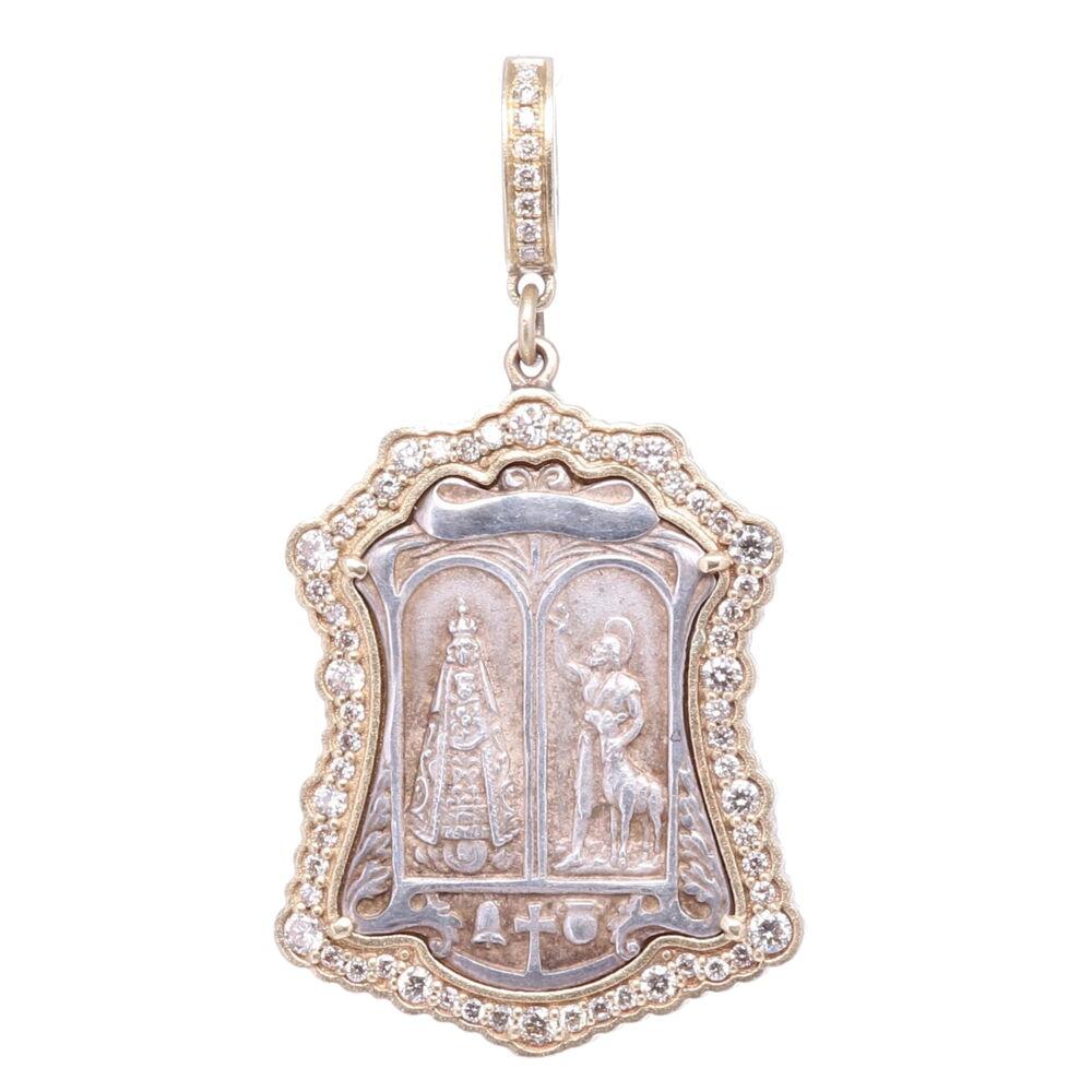 St. Hubert & Virgin Mary Pendant
