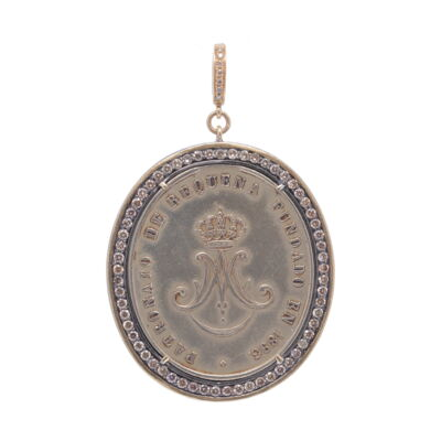 Ave Maria c. 1893 with Channel Set Diamond Bezel