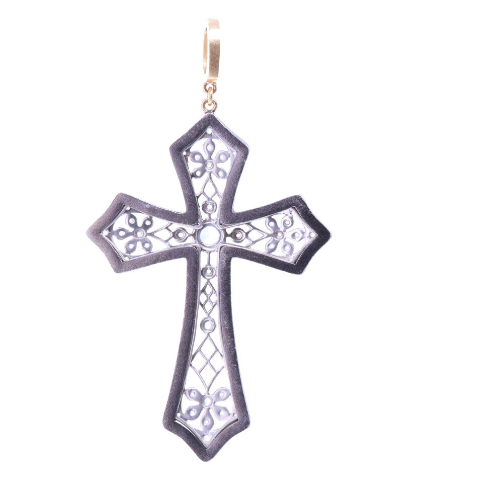 Image 2 for Art Deco Rose Cut Diamond Cross