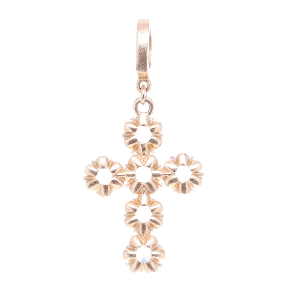 Image 2 for Rose Cut Diamonds Cross Pendant