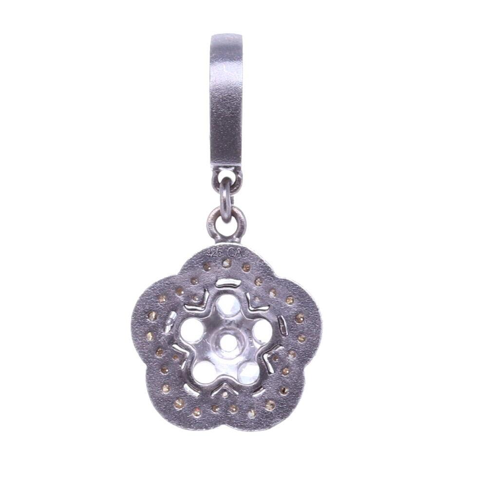 Image 2 for Rose Cut Diamond Flower Pendant